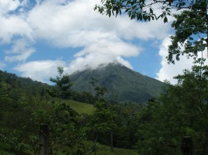 View of Arenal from the roadway