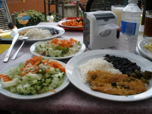 Our yummy lunch at InBioparque