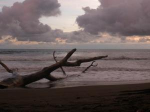 Dominical beach around sunset