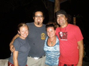 Kelly and I with Conrad and Alex, the owners of Vista Serena