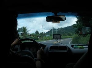 Erin driving us to San Jose