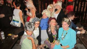 Golden Girls, Ellen and Portia, and Boy George (aka Stella)
