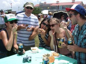 Pigging out at Jazzfest