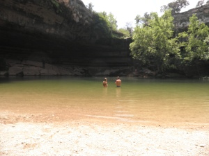 Luke and me at Hamilton Pool